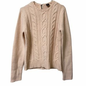 Gap Women's L Cable Knit Wool Cashmere Sweater
